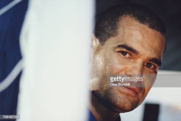 Jose Luis Chilavert of Paraguay poses for a portrait for soft drinks manufacturer PepsiCola on 23 December 1999 in Seville Spain