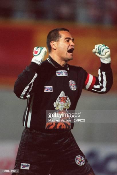 Jose Luis Chilavert Paraguay celebrates