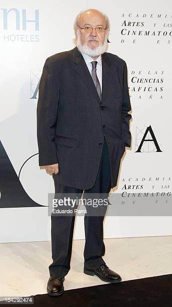 Jose Luis Cuerda attends Gold Medal Award photocall at Madrid Casino on October 17 2012 in Madrid Spain