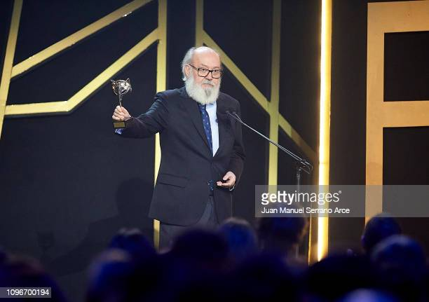 Jose Luis Cuerda receives the Honorary Award during Feroz Awards 2019 at Bilbao Arena on January 19 2019 in Bilbao Spain
