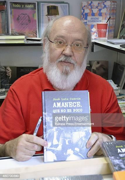 Jose Luis Cuerda signs copies of books at Madrid Book Fair on June 15 2014 in Madrid Spain