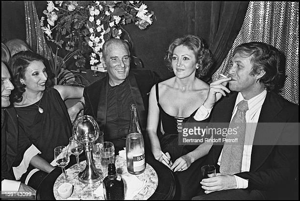 Jose Luis De Villalonga and wife Sylviane during a party at Elysee Matignon night club in Paris