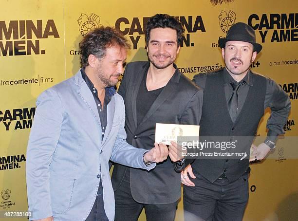 Jose Luis Garcia Jose Manuel Seda y Alex O'Dogherty attend 'Carmina Y Amen' Premiere on April 28 2014 in Madrid Spain