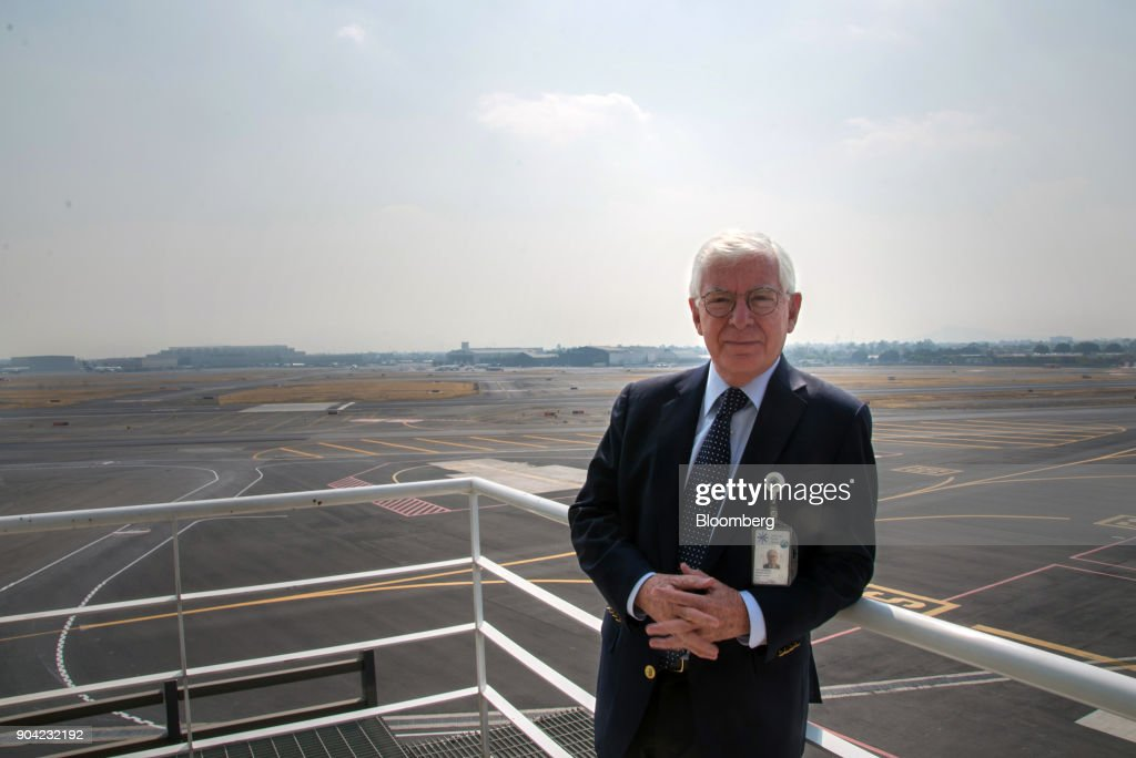Jose Luis Garza, chief executive officer of ABC Aerolineas SA de CV (Interjet), stands for a photograph at Benito Juarez International Airport (MEX) in Mexico City, Mexico, on Friday, Jan. 5, 2018. Interjet made a splash as Mexico's first airline for the budget-conscious flyer when it was founded in 2005. But in the years that followed, the carrier hit turbulent skies, causing the company's overall market share to stagnate while Competitor Volaris captured more passengers. Photographer: Lujan Agusti/Bloomberg via Getty Images