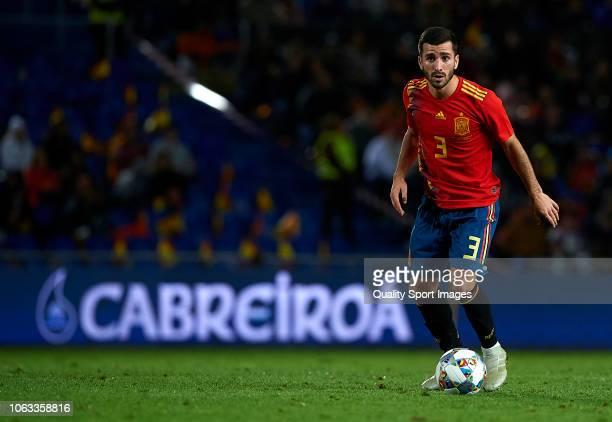 Jose Luis Gaya of Spain in action during the international friendly match between Spain and Bosnia Herzegovina at Estadio de Gran Canaria on November...
