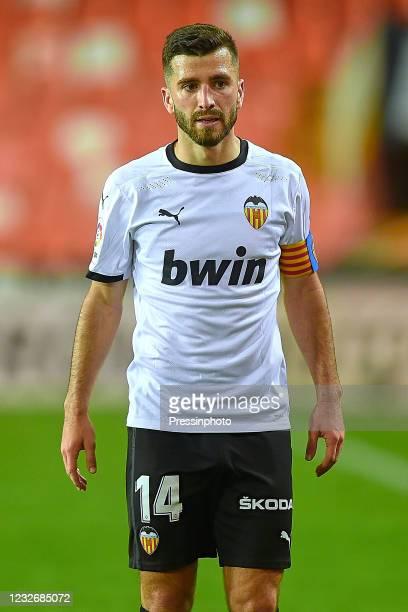 Jose Luis Gaya of Valencia CF during the La Liga match between Valencia CF and FC Barcelona played at Mestalla Stadium on May 2, 2021 in Valencia,...