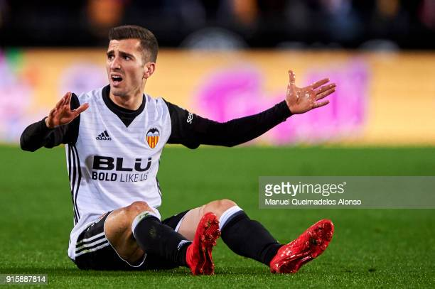 Jose Luis Gaya of Valencia CF reacts during the Copa de Rey semifinal second leg match between Valencia and Barcelona on February 8 2018 in Valencia...