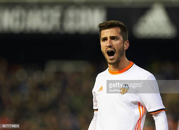 Jose Luis Gaya of Valencia CF reacts during the La Liga match between Valencia CF vs Malaga CF at Estadio de Mestalla on december 4 2016 Valencia