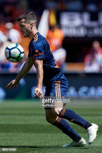 Jose Luis Gaya of Valencia CF with the ball during the La Liga game between Valencia CF and Deportivo de la Coruna at Mestalla on May 20 2018 in...