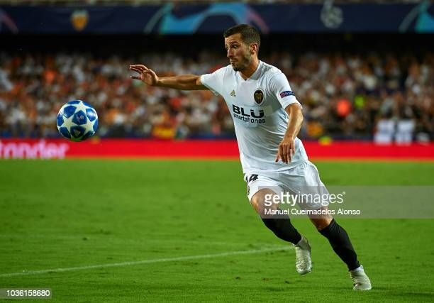 Jose Luis Gaya of Valencia in action during the Group H match of the UEFA Champions League between Valencia and Juventus at Estadio Mestalla on...