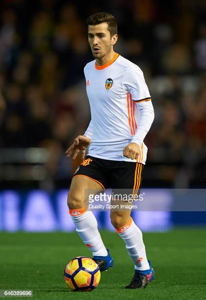 Jose Luis Gaya of Valencia in action during the La Liga match between Valencia CF and CD Leganes at Mestalla Stadium on February 28 2017 in Valencia...