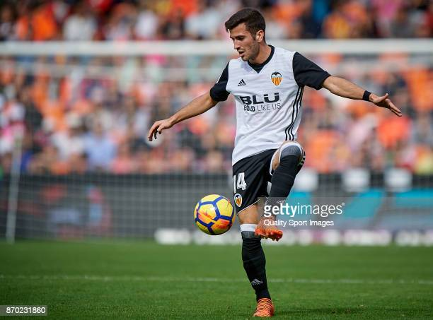 Jose Luis Gaya of Valencia in action during the La Liga match between Valencia and Leganes at Mestalla Stadium on November 4 2017 in Valencia Spain
