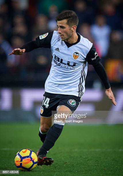 Jose Luis Gaya of Valencia in action during the La Liga match between Valencia and Celta de Vigo at Mestalla Stadium on December 9 2017 in Valencia...