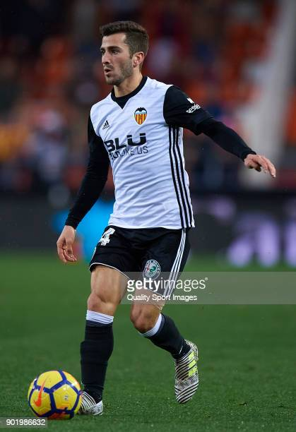 Jose Luis Gaya of Valencia in action during the La Liga match between Valencia and Girona at Mestalla stadium on January 6 2018 in Valencia Spain