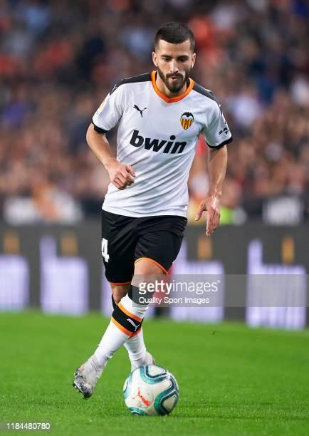 Jose Luis Gaya of Valencia in action during the Liga match between Valencia CF and Sevilla FC at Estadio Mestalla on October 30 2019 in Valencia Spain