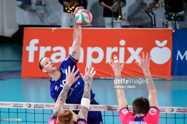 Jose Luis Gonzalez of Paris during the Ligue B match between Paris Volley and St Nazaire at Stade Charlety on May 3 2019 in Paris France