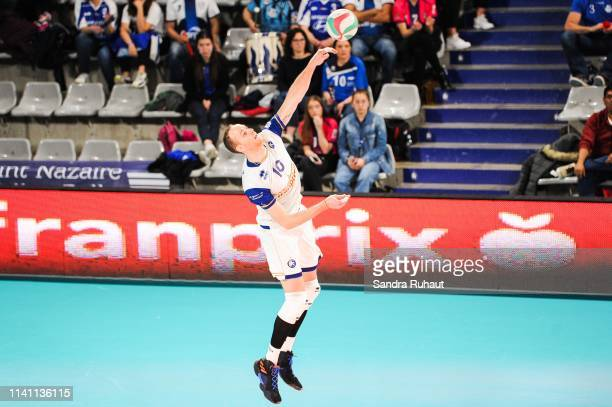 Jose Luis Gonzalez of Paris during the Ligue B match between Paris Volley and St Nazaire at Stade Charlety on May 4 2019 in Paris France