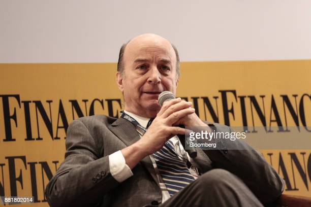 Jose Luis Inglese chairman of Agua y Saneamientos Argentinos SA speaks during the Argentina SubSovereign and Infrastructure Finance Summit in Buenos...