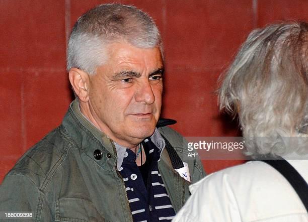 Jose Luis Lopez Ruiz also known as Kubati member of Basque armed separatist group ETA leaves the Puerto I prison in Puerto de Santa Maria near Cadiz...