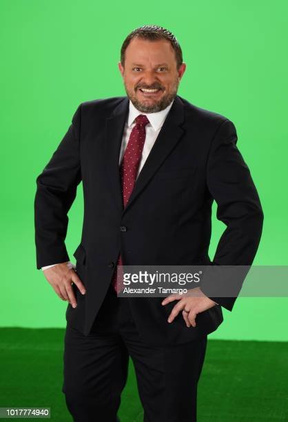 Hristo Stoichkov is seen on set during the Univision Deportes UEFA Campaign Behind The Scenes on August 16 2018 in Miami Florida