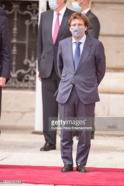 Jose Luis Martinez Almeida during the reception of the President of the Republic of Korea, Moon Jae-in, and his wife, Kim Jung-sook, upon their...
