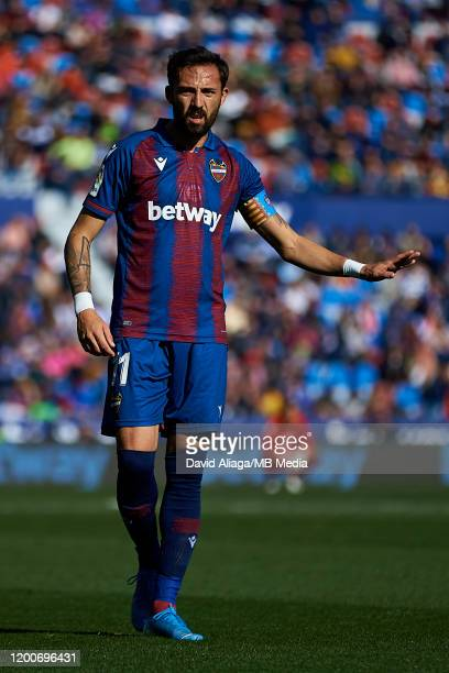 Jose Luis Morales Nogales of Levante UD reacts during the Liga match between Levante UD and Deportivo Alaves at Ciutat de Valencia on January 18 2020...