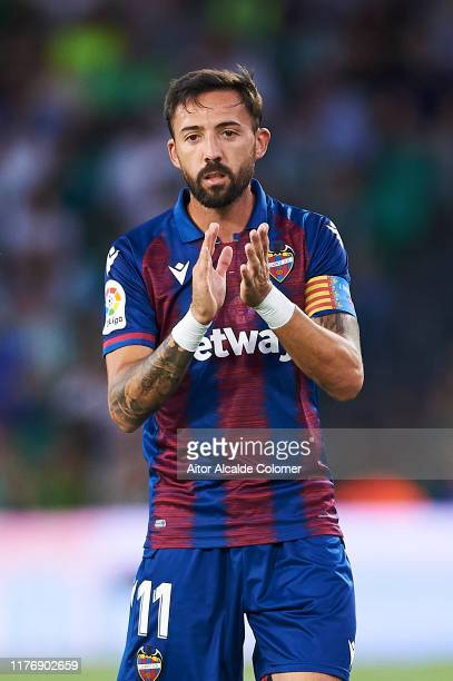 Jose Luis Morales of Levante UD looks on during the Liga match between Real Betis Balompie and Levante UD at Estadio Benito Villamarin on September...