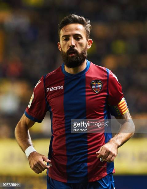 Jose Luis Morales of Levante Union Deportiva during the La Liga match between Villarreal CF and Levante Union Deportiva at Estadio de la Ceramica on...