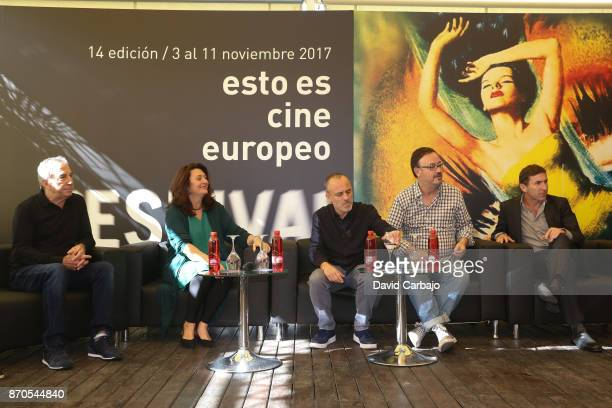 Jose Luis Perales Adelfa Cuenca Javier Gutierrez Manuel Martin Calvo and Antonio de la Torre attends the presentation of the film THE AUTHOR of the...