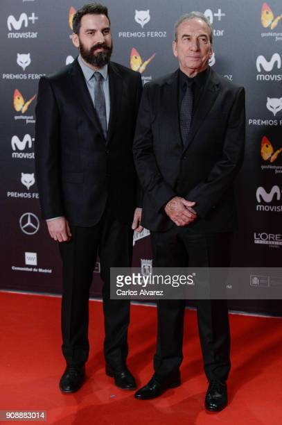 Jose Luis Perales and son attend Feroz Awards 2018 at Magarinos Complex on January 22 2018 in Madrid Spain