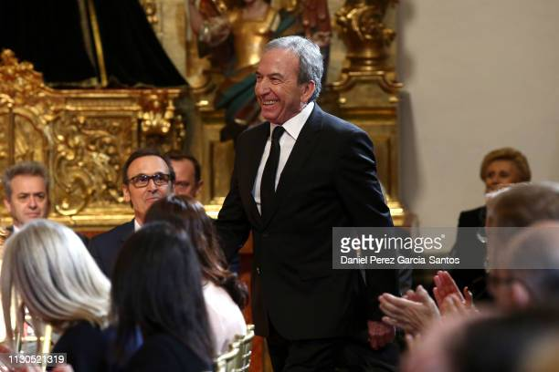 Jose Luis Perales attends the 'Bellas Artes' Golden Medal Awards at the Palace of Merced from King Felipe VI of Spain and Queen Letizia of Spain on...