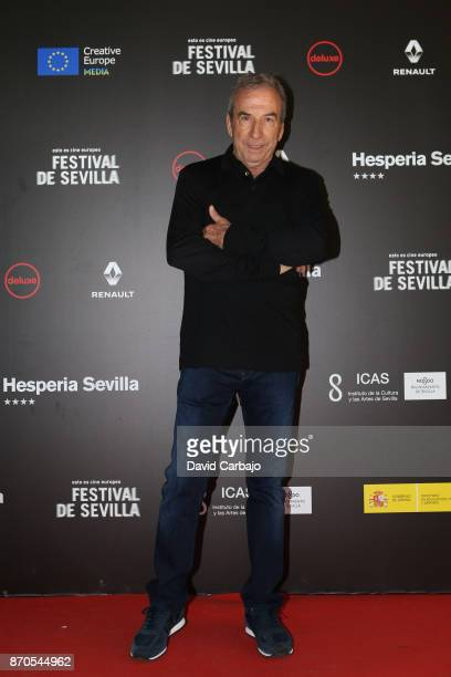 Jose Luis Perales attends the presentation of the film THE AUTHOR of the European Film Festival of Seville on November 5 2017 in Seville Spain