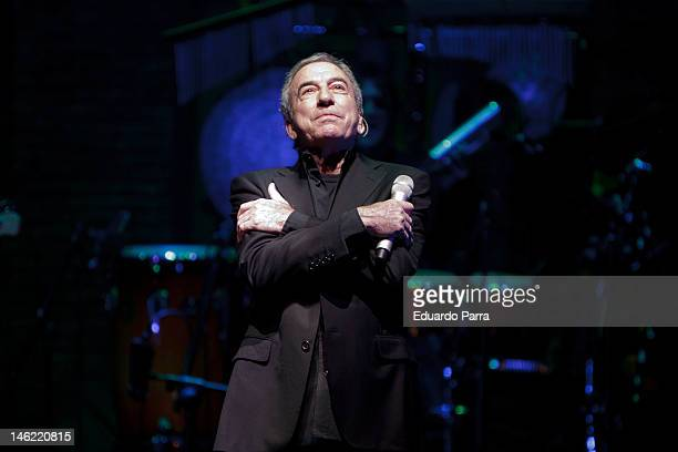 Jose Luis Perales perfoms live in a concert at Rialto theatre on June 12 2012 in Madrid Spain