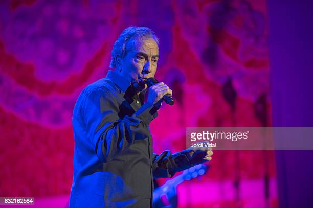 Jose Luis Perales performs on stage at Palau de la Musica on January 19 2017 in Barcelona Spain