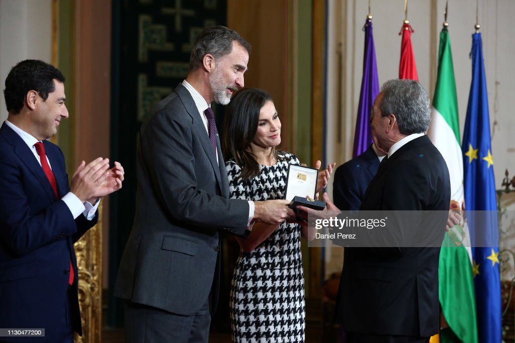 ESP: Spanish Royals Delivers Golden Medals Of Merit In Fine Arts