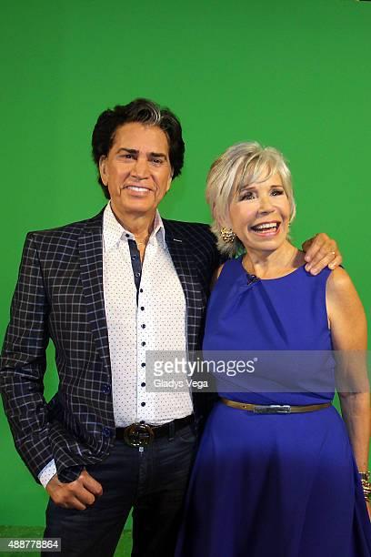 Jose Luis Rodriguez El Puma and Johanna Rosaly remembers telenovela of 1978 Cristina Bazan on 'Alexandra De Noche' on September 17 2015 in San Juan...