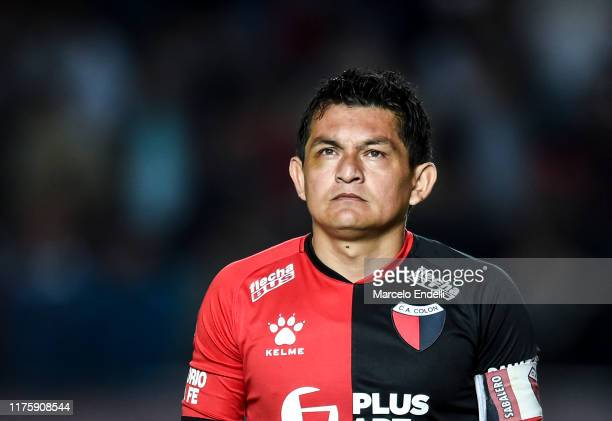 Jose Luis Rodriguez of Colon looks on before the first leg semifinal of Copa CONMEBOL Sudamericana 2019 between Colón and Atlético MG at Brigadier...