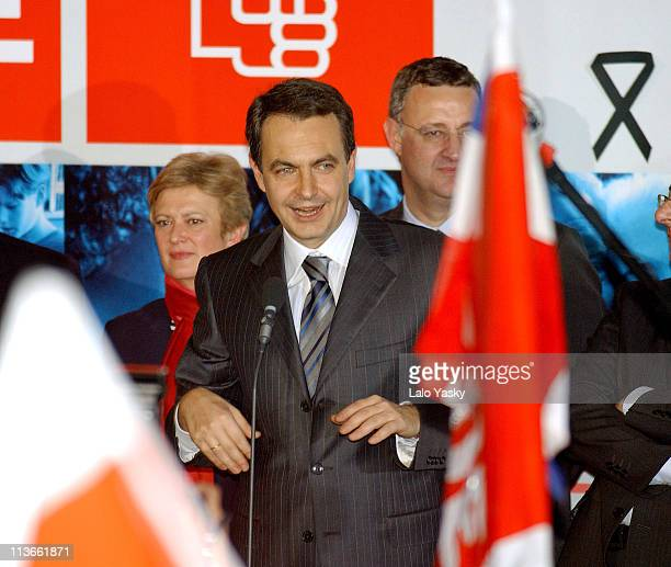 Jose Luis Rodriguez Zapatero Leader of the PSOE and Other Members of Socialist Party