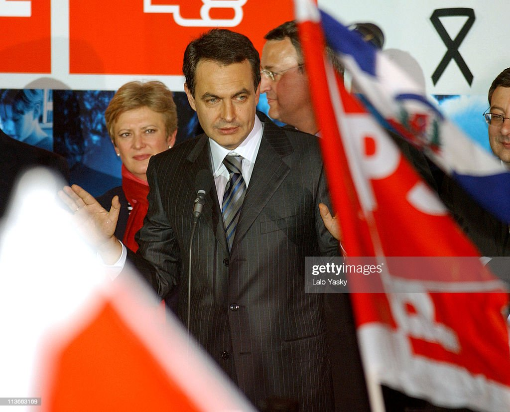 Jose Luis Rodriguez Zapatero Wins Spanish General Elections - March 14, 2004