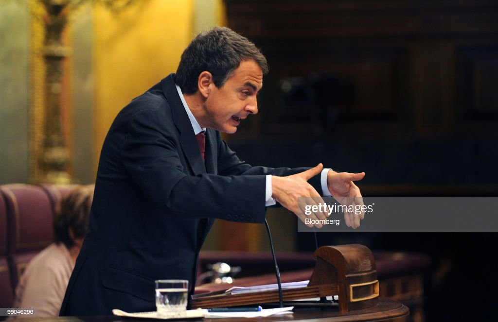 Zapatero Speaks To The Spanish Parliament
