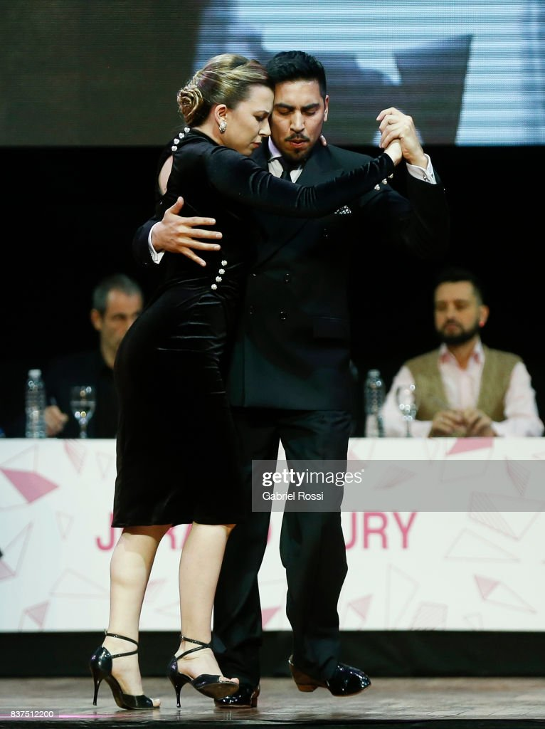 Jose Luis Salvo and Carla Rossi of Argentina dance during the final round of the Tango Salon competition as part of the Buenos Aires International Tango Festival and Championship 2017 at Luna Park on August 22, 2017 in Buenos Aires, Argentina.