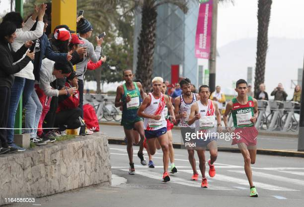 Jose Luis Santana of Mexico competes in the men's marathon final at Parque Kennedy on July 27, 2019 in Lima, Peru.