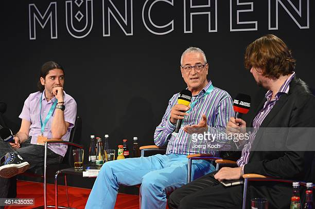 Jose Luis Valle Luis Minarro and Florian Borchmeyer attend the 'Nuevo Cine Hispano' Panel as part of Filmfest Muenchen 2014 on June 29 2014 in Munich...