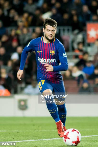 Jose Manuel Arnaiz Diaz of FC Barcelona in action during the Copa Del Rey 201718 Round of 16 match between FC Barcelona and RC Celta de Vigo at Camp...