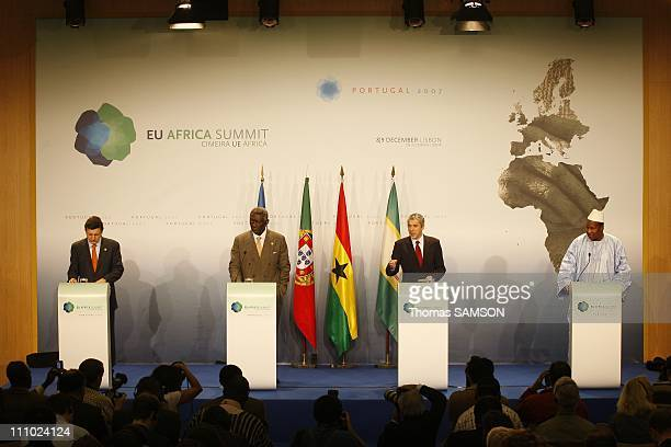 Jose Manuel Barroso President of the European Commission John Kufuor President of Ghana President of the African Union Jose Socrates Portuguese Prime...
