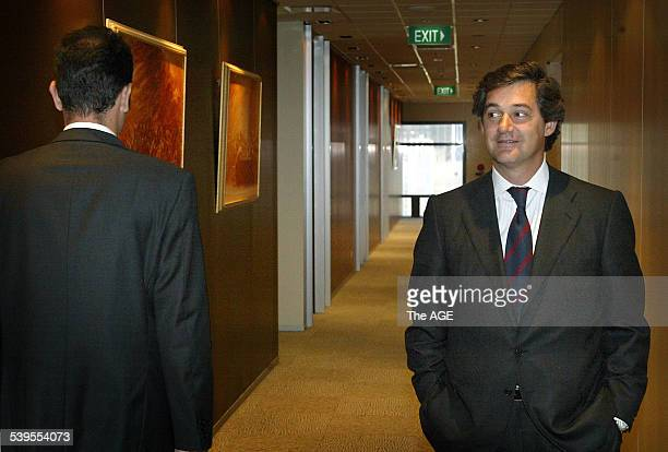 Jose Manuel Entrecanales Domecq President of Acciona the Spanish company which wants to buy Pacific Hydro in Melbourne on 5th April 2005 THE AGE...