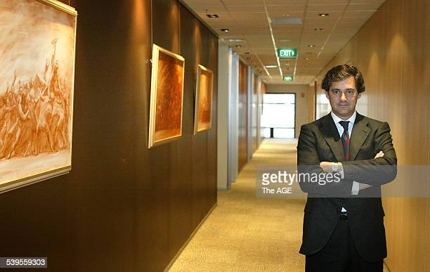 Jose Manuel Entrecanales Domecq President of Acciona the Spanish company which wants to buy Pacific Hydro in Melbourne 5 April 2005 THE AGE Picture...