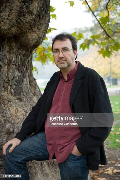 Jose Manuel Fajardo Spanish writer portrait novelist Milan Italy 15th November 2006