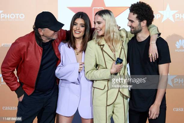 Jose Manuel Ferrater Dulceida Brisa Fenoy and Gonzaga Manso attend Top Photo Tv Show by Movistar presentation at Espacio Harley on May 10 2019 in...