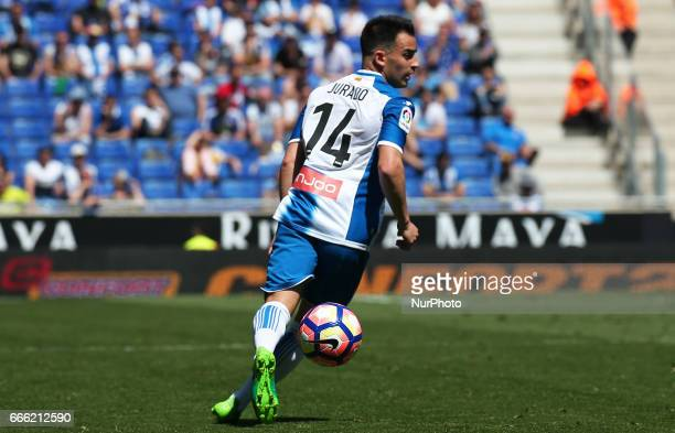 Jose Manuel Jurado during the match between RCD Espanyol and Deportivo Alaves on April 08 2017
